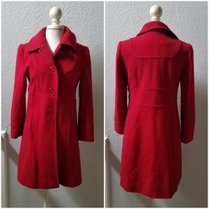 Red Wool Coat 2P Preston & York Petite